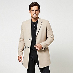 Burton - Mink faux wool chesterfield overcoat