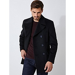 Burton - Black wool pea coat
