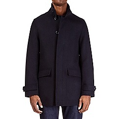 Burton - Navy smart single breasted wool jacket