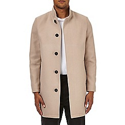 Burton - Cream faux wool funnel neck coat