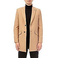 Burton - Camel faux wool overcoat