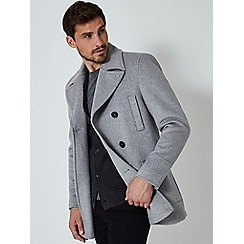 Burton - Grey wool pea coat