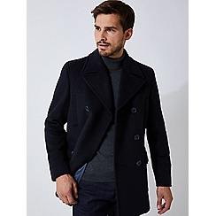 Burton - Navy wool pea coat