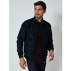 Burton - Green check faux wool harrington jacket