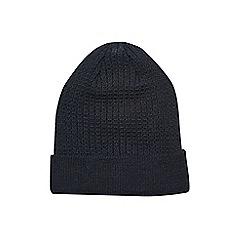 Burton - Black textured beanie hat