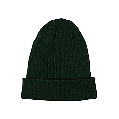 Burton - Green textured beanie hat
