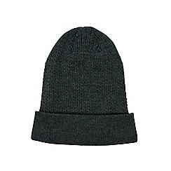 Burton - Grey textured beanie hat