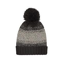 Burton - Black and grey block bobble beanie hat