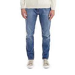 Burton - Light wash travis relaxed tapered fit jeans