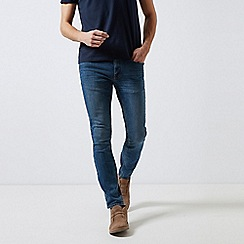 Burton - Mid Blue Open Ended Skinny Fit Jeans