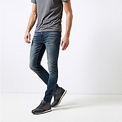 Burton - Blue Vintage Wash Skinny Fit Jeans