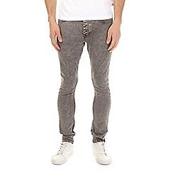 Burton - Grey acid wash skinny fit jeans
