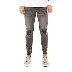 Burton - Charcoal ripped skinny fit jeans