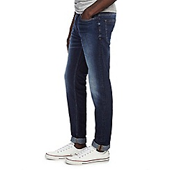 Burton - Big & tall washed blue skinny fit jeans