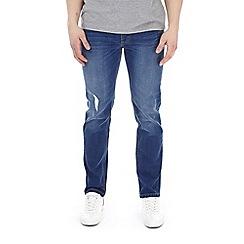 Burton - Bright blue blake ripped slim fit jeans