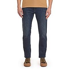 Burton - Blue dark coated greencast blake slim fit jeans