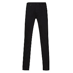 Burton - Big and tall slim fit black jeans