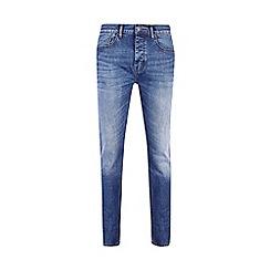 Burton - Big and tall mid blue slim jeans