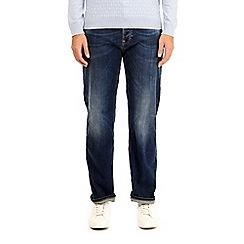 Burton - Dark wash wyatt relaxed fit jeans