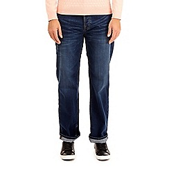 Burton - Mid blue relaxed fit jeans