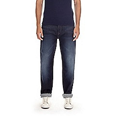 Burton - Dark blue wash relaxed fit jeans