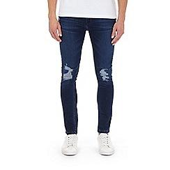 Burton - Mid blue ripped super skinny fit jeans