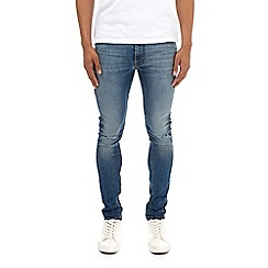 Burton - Mid blue hyper stretch super skinny fit jeans