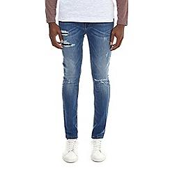 Burton - Mid bleach super skinny fit rip and repair jeans