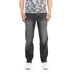 Burton - Washed grey straight fit jeans