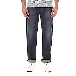 Burton - Distress green cast straight fit jeans