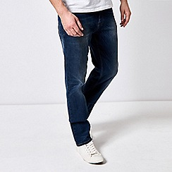 Burton - Mid Blue Straight Fit Jeans