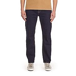 Burton - Blue raw logan straight leg jeans
