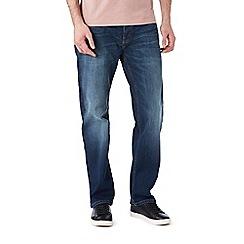 Burton - Big & tall mid wash blue straight leg jeans
