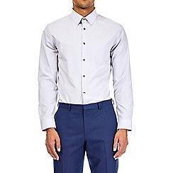 Burton - White multipack black and grey slim fit easy iron shirt