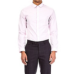 Burton - Pink and blue multipack skinny fit easy iron shirt