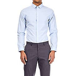 Burton - White and blue multipack skinny fit easy iron shirt