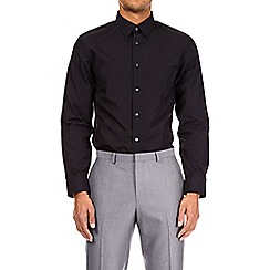 Burton - Black and grey multipack tailored fit easy iron shirt