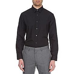 Burton - Black tailored fit easy iron shirt