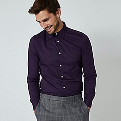 Burton - Purple skinny fit geometric print shirt