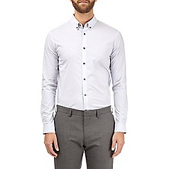Burton - Purple eoe skinny fit stretch shirt