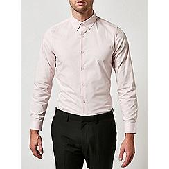 Burton - Pink skinny fit stretch shirt