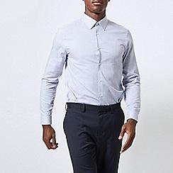 Burton - Blue slim fit striped shirt