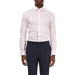 Burton - Pink muscle fit sateen shirt