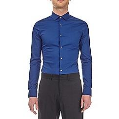 Burton - Cobalt skinny fit sateen shirt