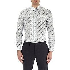 Burton - Greylarge petal skinny fit shirt