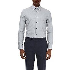 Burton - Grey slim fit jasper shirt