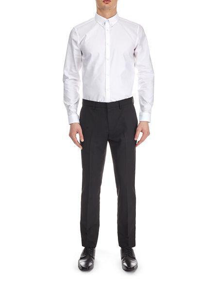 shirt slim oxford White button Burton fit down YxUB6w