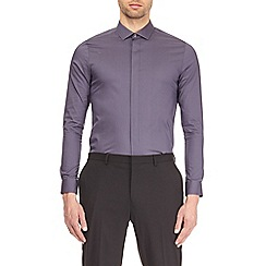 Burton - Dusky grey skinny fit sateen shirt