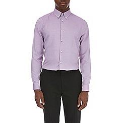 Burton - Dark pink slim fit dobby shirt