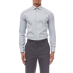 Burton - Grey slim fit non iron shirt